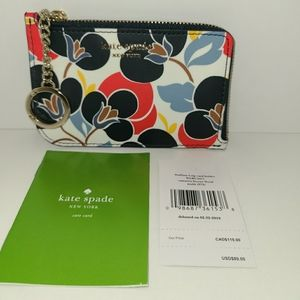 kate spade medium l-zip card holder